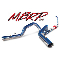 "MBRP Installer Series Aluminized 4"" Dual (Turbo-Back)"