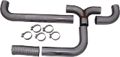 "MBRP Exhaust 4"" Stack T-Pipe Kit 409 Stainless Steel"