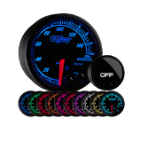 GlowShift Elite 10 Color Oil Pressure Gauge